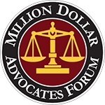 Logo Recognizing Law Offices of James P. Deffet LLC's affiliation with Million Dollar Advocates