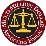 Logo Recognizing Law Offices of James P. Deffet LLC's affiliation with Multi Million Dollar Advocates