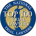 Logo Recognizing Law Offices of James P. Deffet LLC's affiliation with National Trial Lawyers Top 100